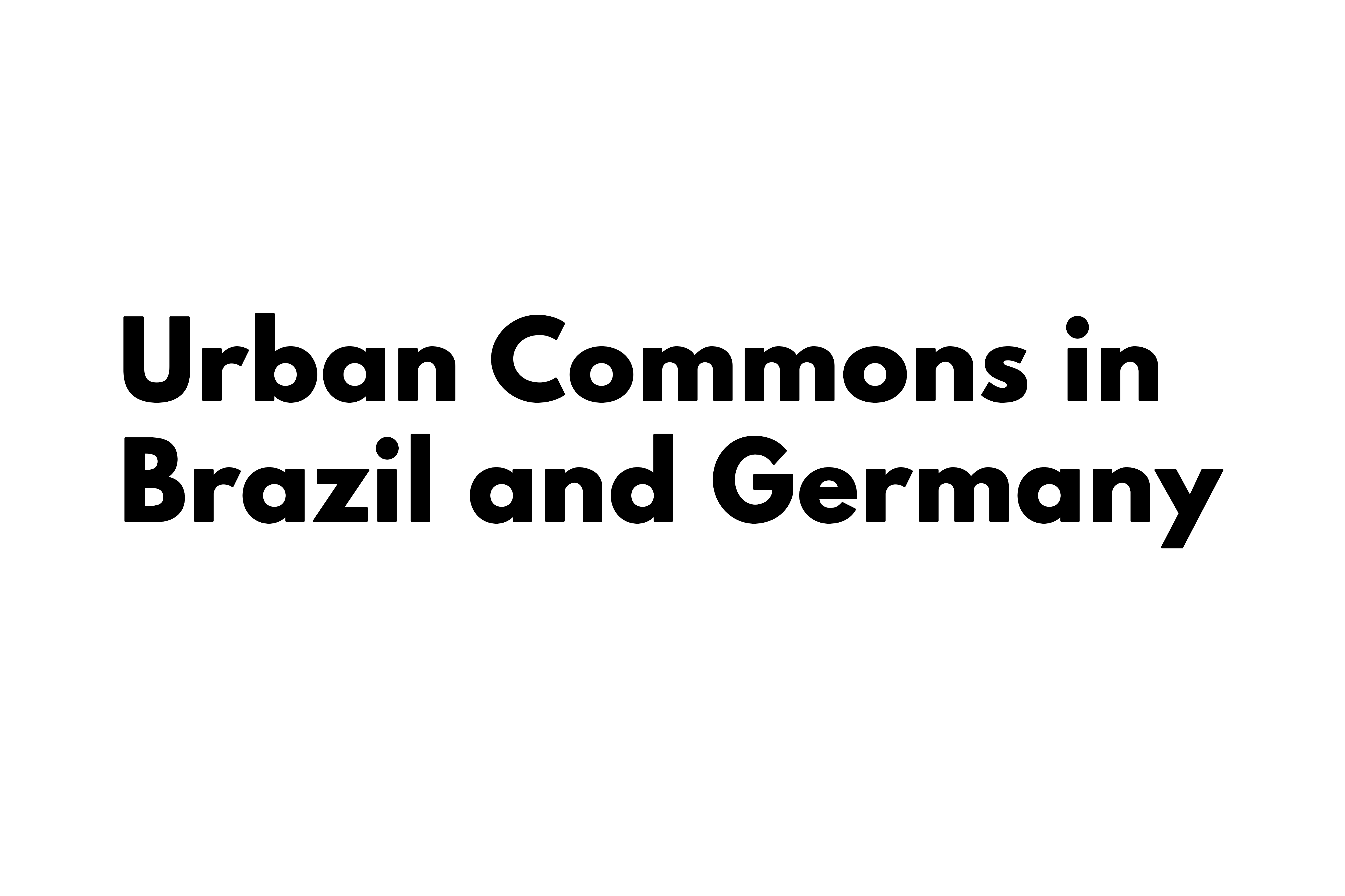 Urban Commons in Brazil and Germany